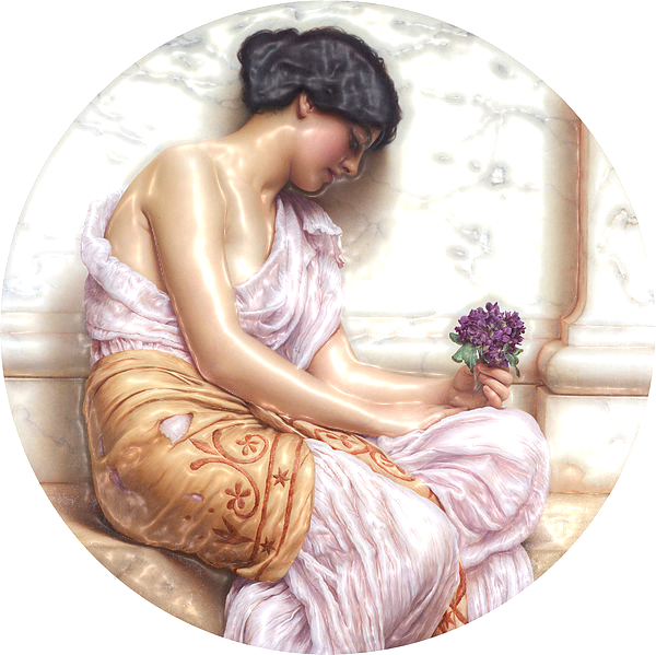 Violets,_sweet_violets_,_by_John_William_Godward-ReliefLight