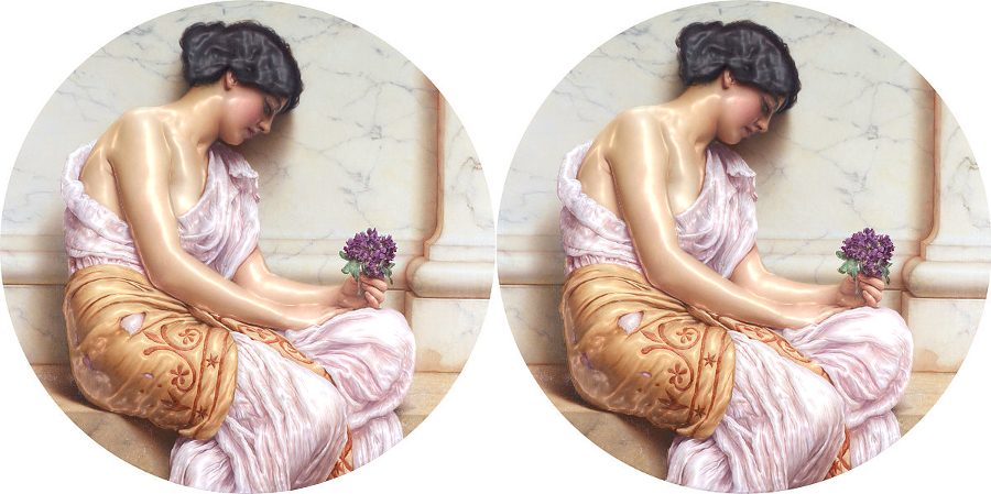 Violets,_sweet_violets_,_by_John_William_Godward-ReliefLightLRinv2